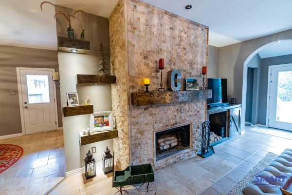 A fireplace is the focal point of home design and remodeling.