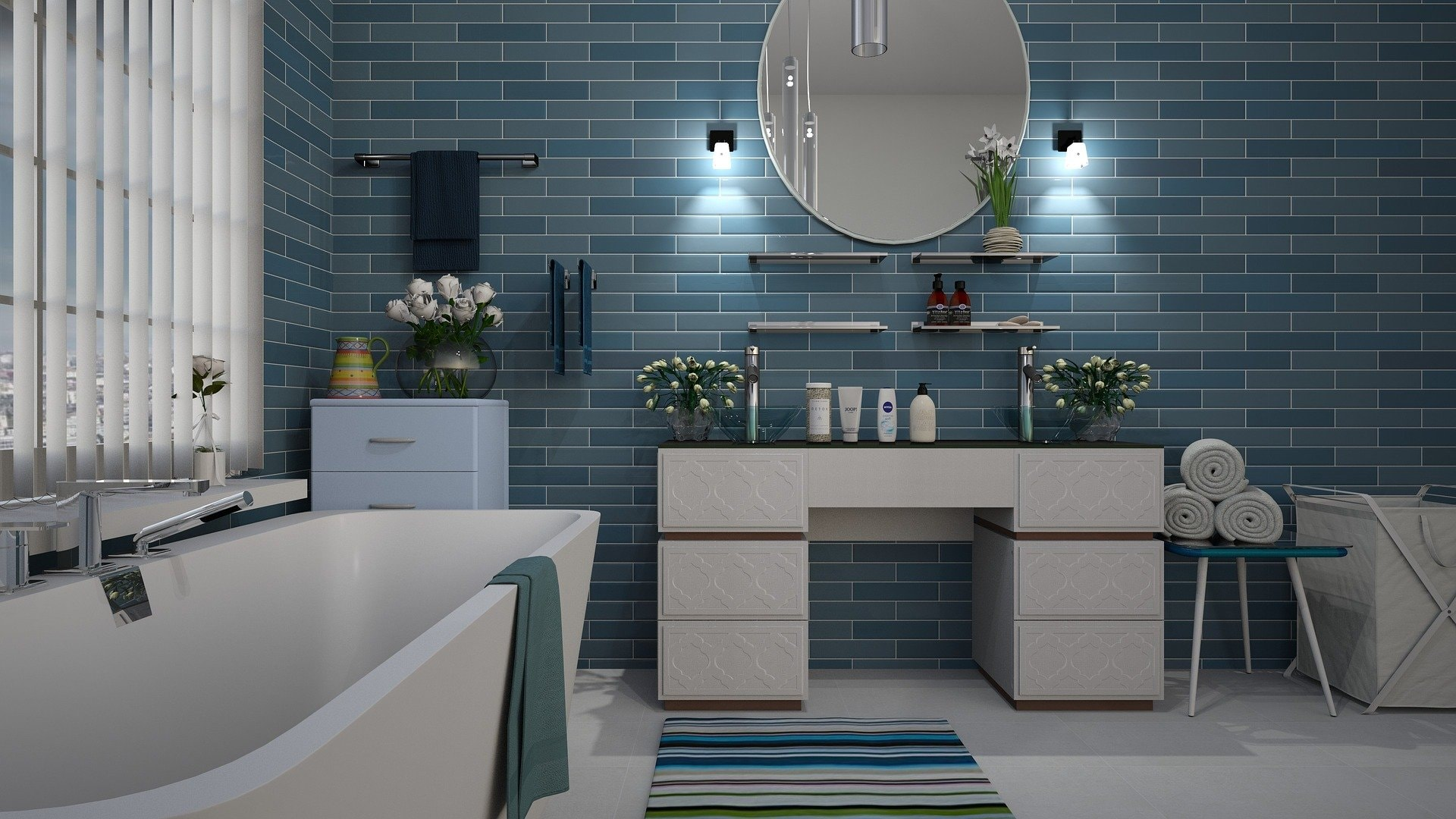 Stash Space Bathroom